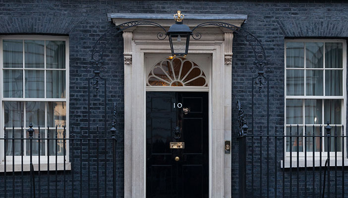 Exterior of 10 Downing Street