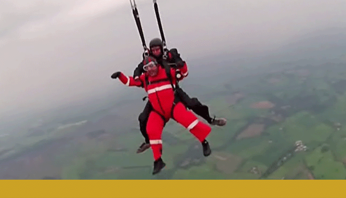 Imran skydiving