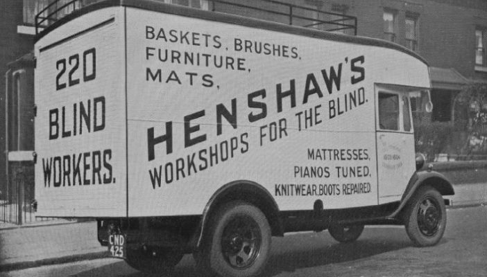 Photo of a Henshaws van from 1935