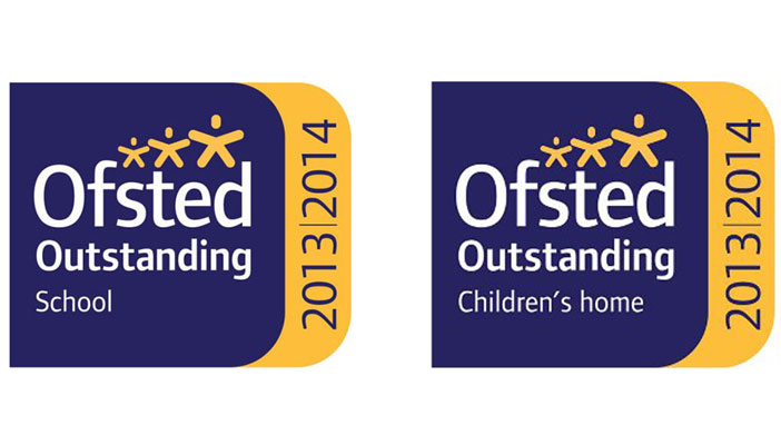 Childrens' Home and School Outstanding Ofsted logo