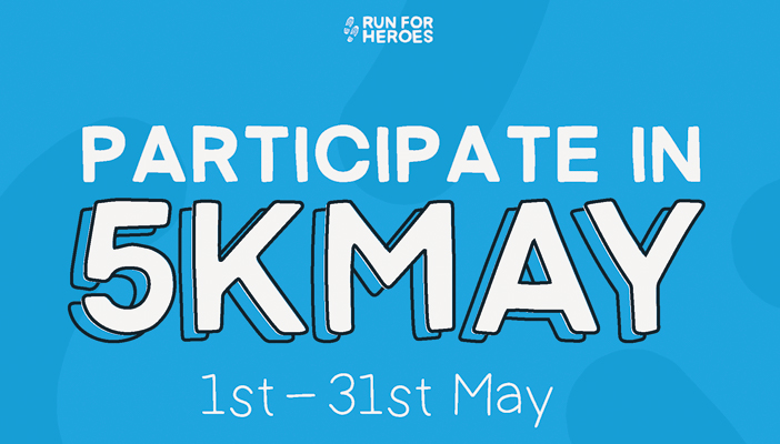 Participate in 5K May 1-31 May written on a blue background