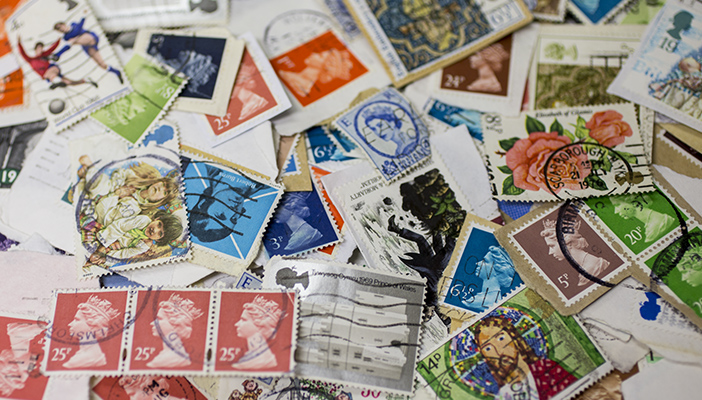 A photo of a collection of stamps