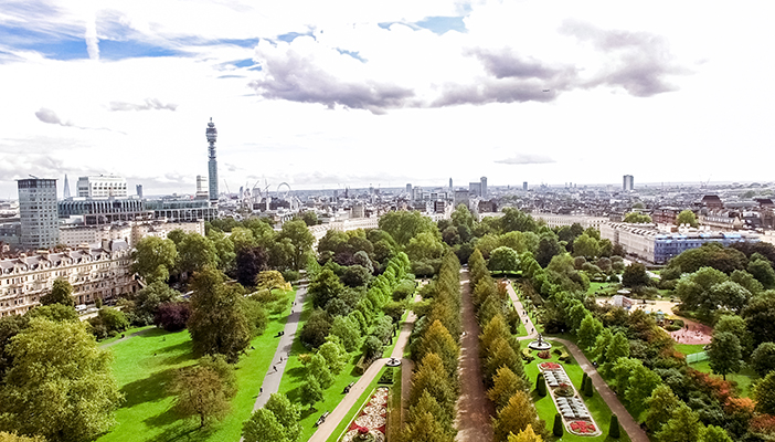 Aerial image of Regent's Park the Double Dash fun run location