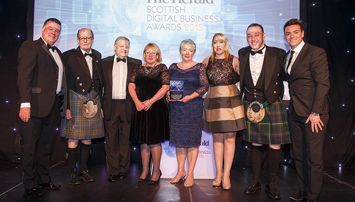 RNIB staff presented with award at Herald Scottish Digital Business Awards,