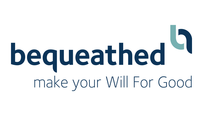 Bequeathed's logo including the phrase make your Will for Good