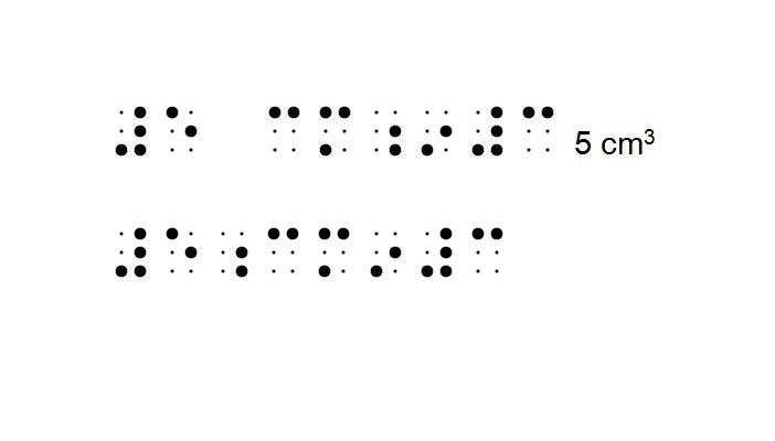 Image shows braille for: number 5, space, c, m, dot 5-6, lower I, number 3; and number 5, dots 56, c, m, lower I, number, 3