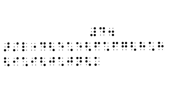 The graphic below shows print notation of a rising chromatic scale in quavers from middle C with the braille music equivalent.