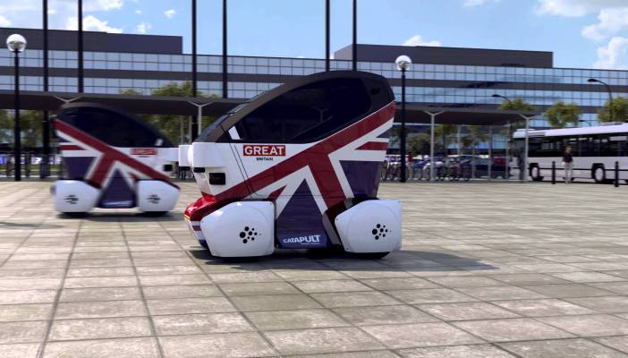 Catapult driverless pods
