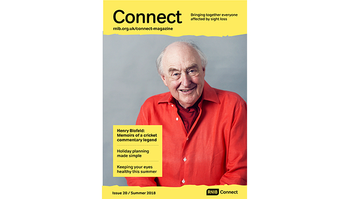 Cover of Connect Summer magazine featuring Henry Blofeld