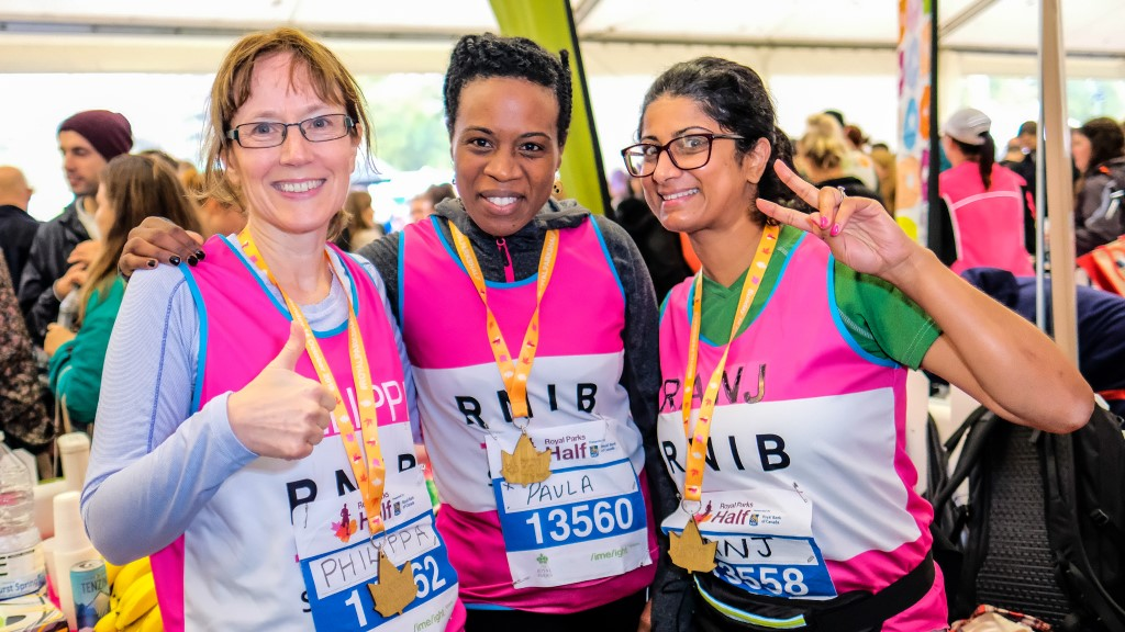 Members of Team RNIB after a running event