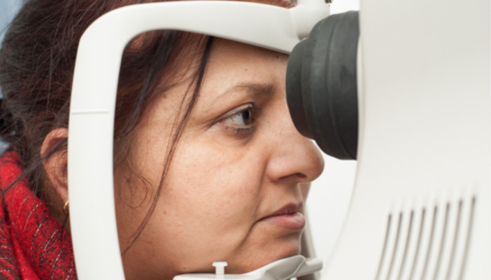 Image of a lady having an eye examination