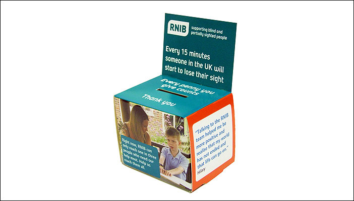 Order our Home Box and start collecting your loose change for RNIB.
