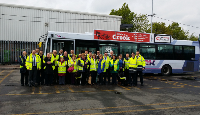 A Successful Swap With Me Event Was Held In Partnership With First Bus And York Blind And Partially Sighted Society In York On 9 June In Order To Raise