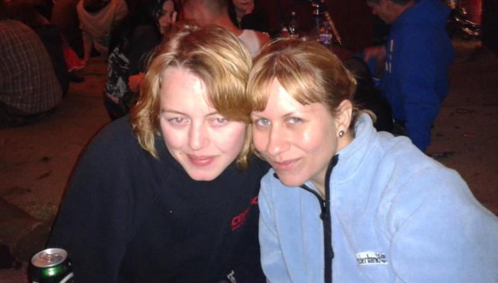 Photo of Fran and Lucy at Download festival