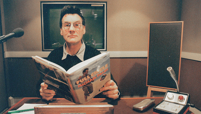 Michael Palin in the studio