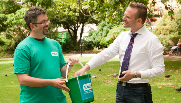 Fundraising for RNIB helps us support blind and partially sighted people across the UK.