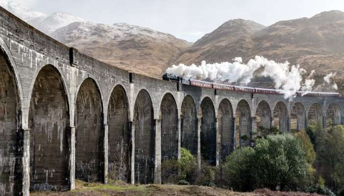 Image of the train from Harry Potter