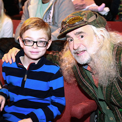 Harry Ward, one of 170 young people to go backstage at James and the Giant Peach