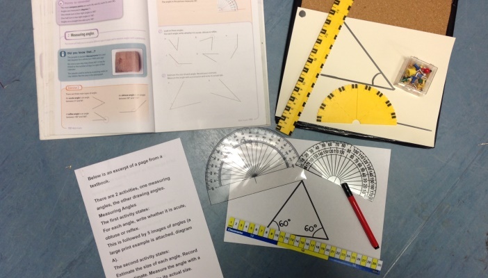 Photo of the resources and adapted work