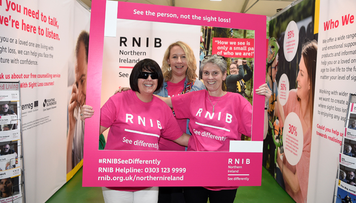 Volunteers and RNIB team members at the Balmoral Show 2019