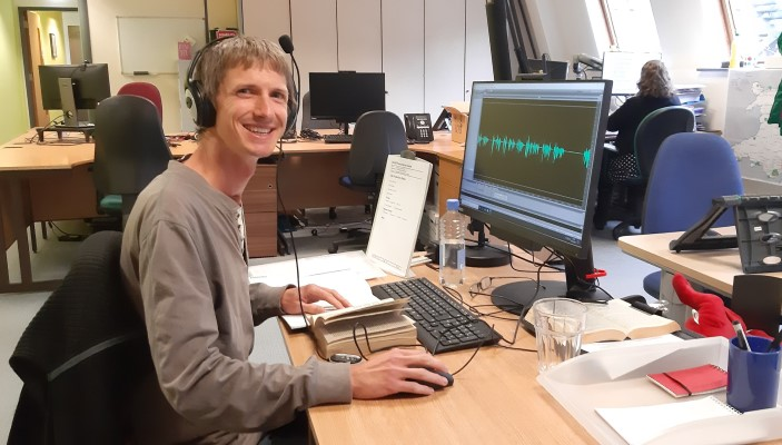 Joseph Flatt volunteers for Cardiff Transcription Services