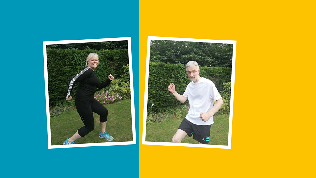 Yvonne and Wilf are taking part in Marathon Mates