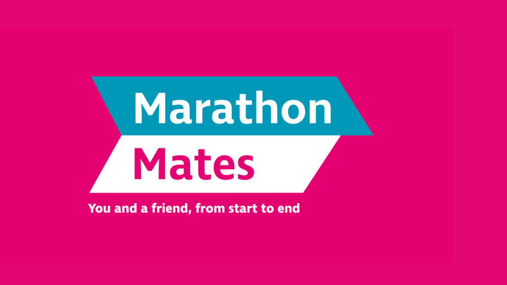 Marathon Mates Logo and strapline: You and a friend, from start to end