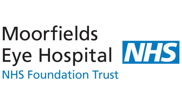 Image is of Moorfields Eye Hospital logo