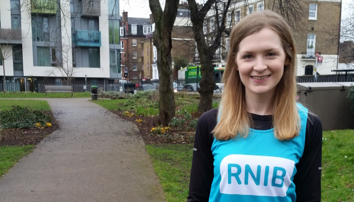 Natalie Evanson is running the London Marathon for RNIB