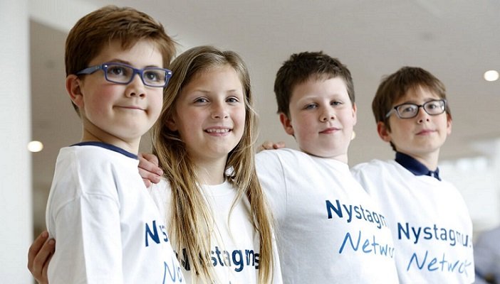 Children wearing the Nystagmus Network t-shirts