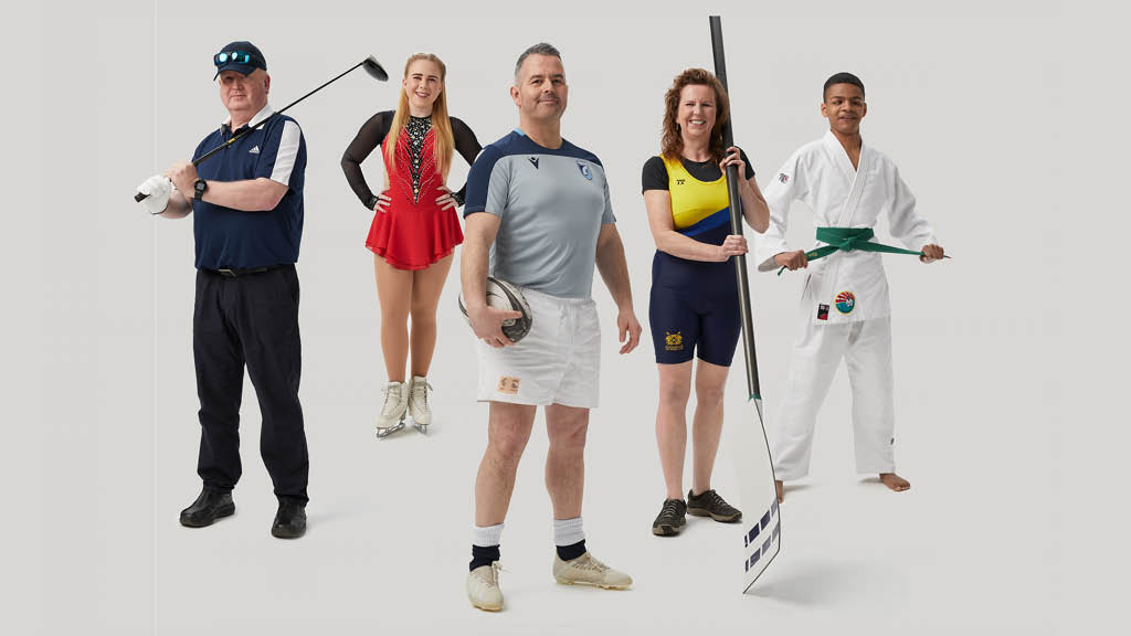 Group of blind and partially sighted athletes