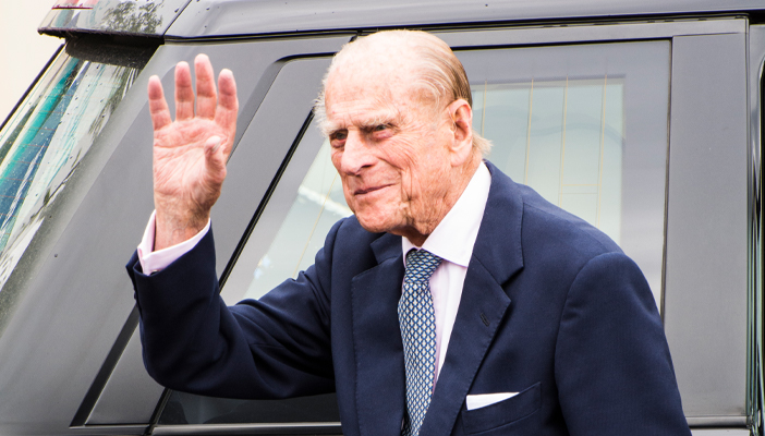 Prince Philip waving