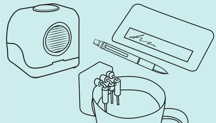 Image shows an illustration of products
