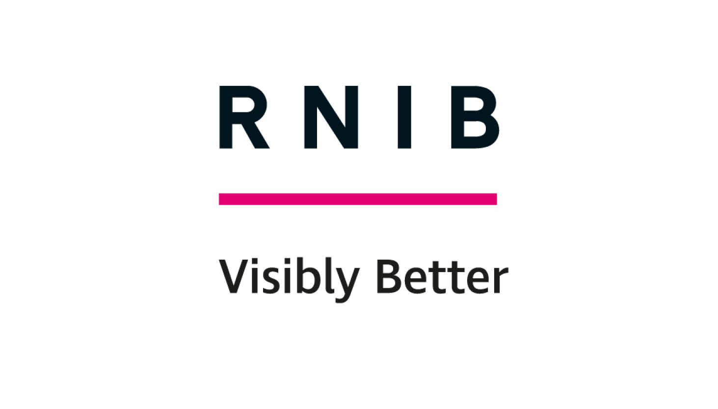 RNIB logo with Visibly Better written underneath