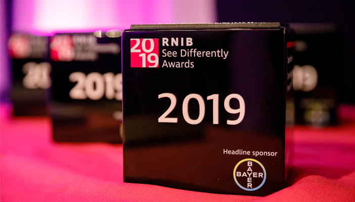 The 2019 See Differently Awards awards on a pink background