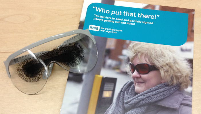 Photo shows 'Who put that there!' report and simulator spectacles