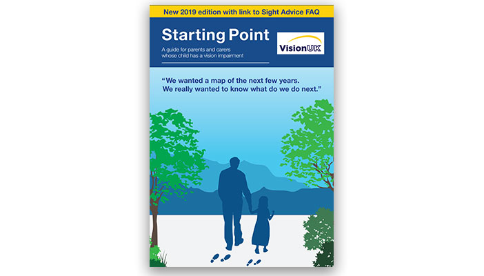 Cover of the Starting Point leaflet, a guide for parents and carers whose child has a vision impairment