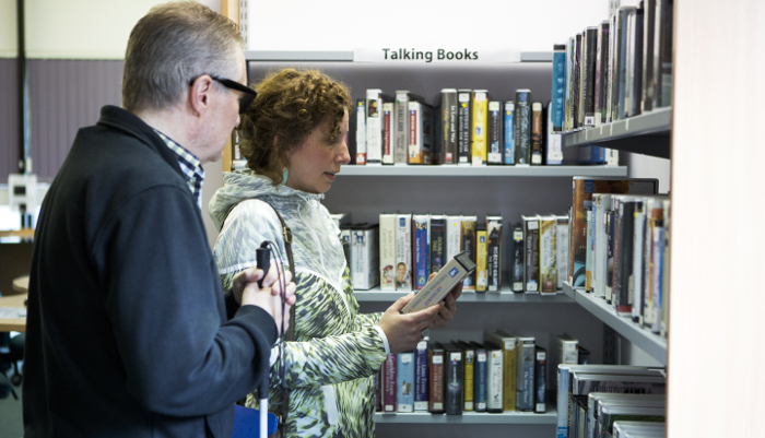 we have the largest selection of talking books for blind and partially sighted people in the UK