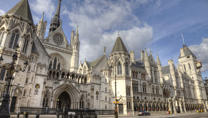 Image of the Royal Courts of Justice in Westminster, London.