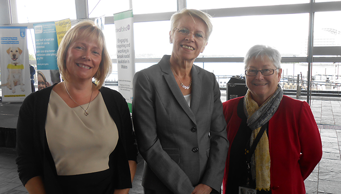 Photograph of Ceri Jackson, Lesley-Anne Alexander, and Sandy Mewies