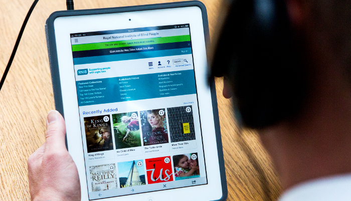 We offer an extensive range of talking books and digital books