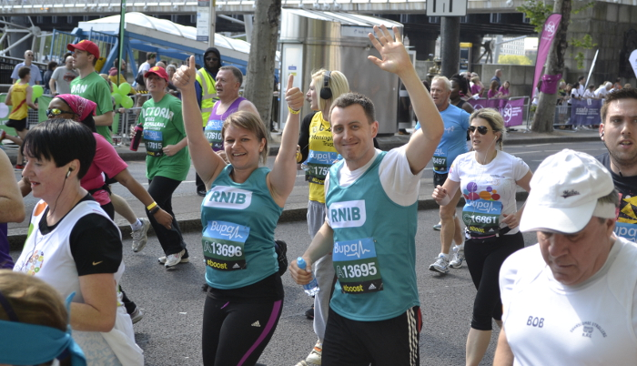 Run the London Marathon with team RNIB