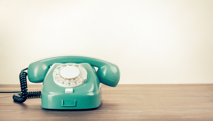image of a telephone in RNIB teal colour