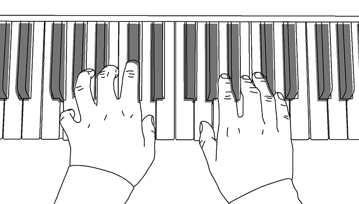 Illustration of person playing piano