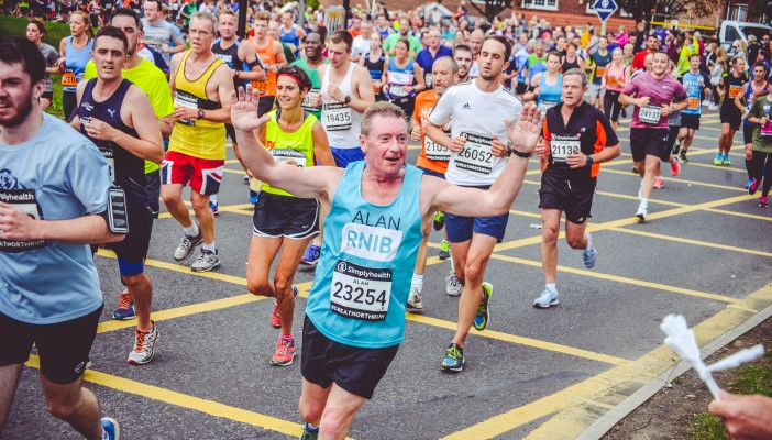 Runners at the Belfast City Marathon