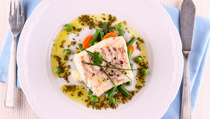 Recipe: Sea bass with steamed vegetables