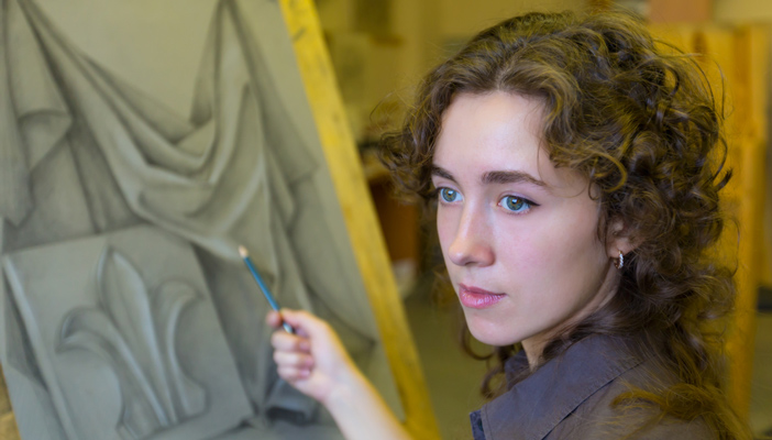 stock image of a female artist