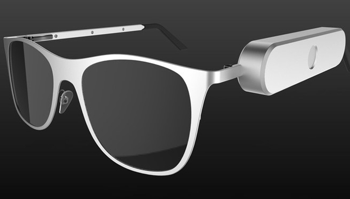 diagram shows a design of what the smart glasses would look like