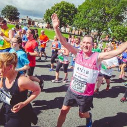 Team RNIB Simplyhealth Great North Run runner smiles at the camera