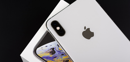 iPhone with Apple logo